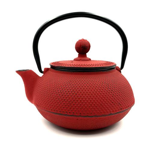 Tetera hierro fundido arare rojo tienda de t shinzen - Tetera japonesa hierro fundido ...