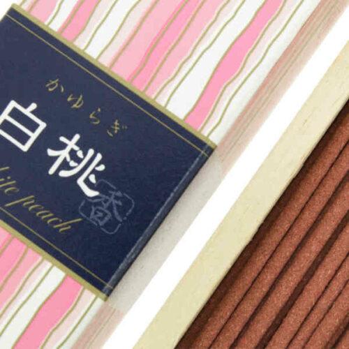 Incienso Japonés Kayuragi Melocotón Blanco Detalle