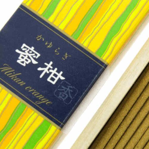 Incienso Japonés Kayuragi Mandarina Detalle